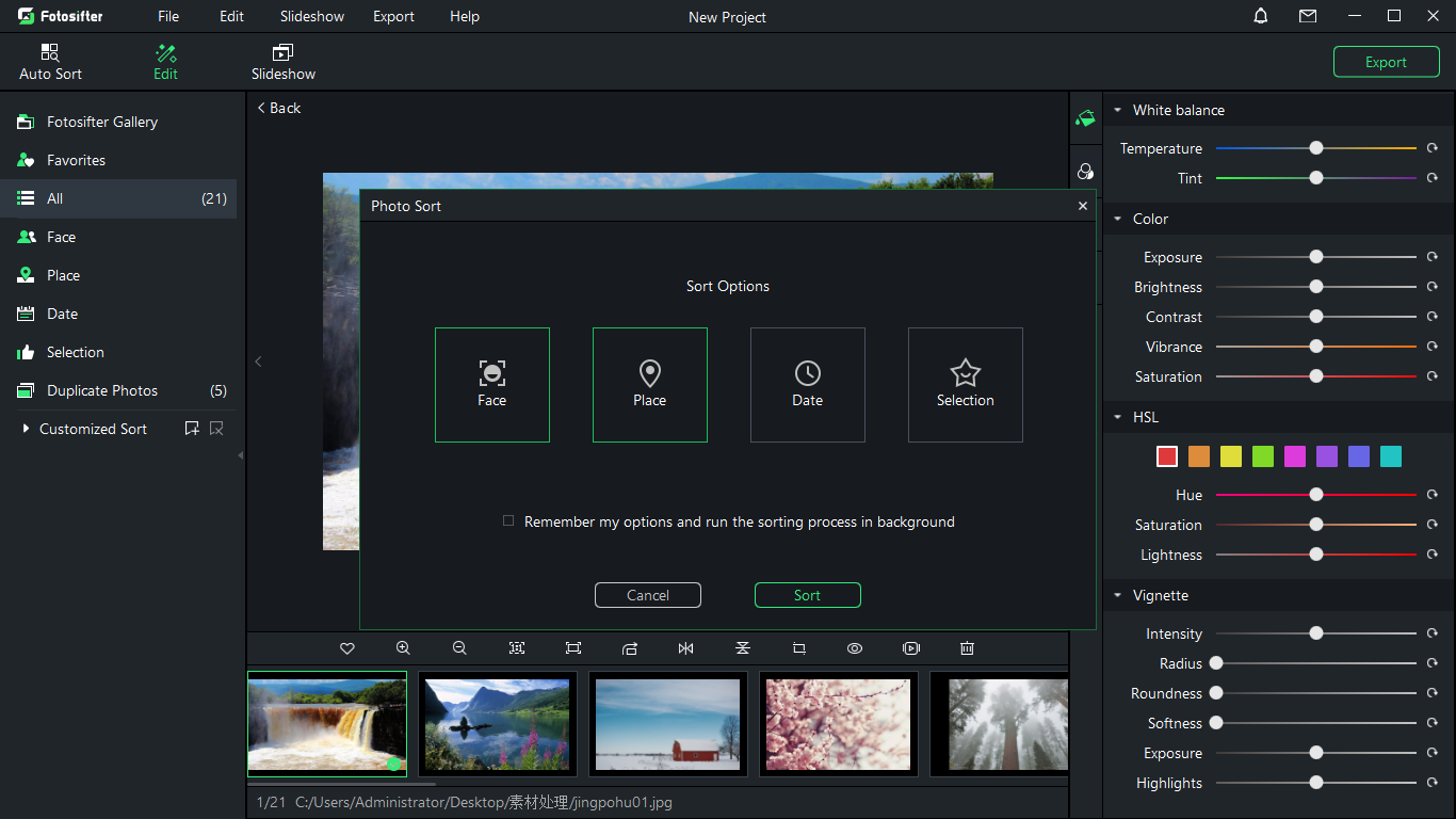 Fotosifter (1 Year License), Batch Image Software Screenshot