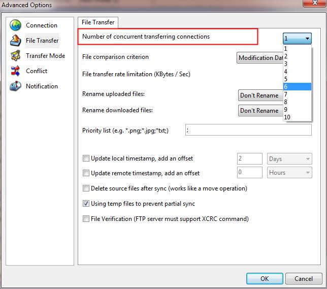 FTP Synchronizer Pro, FTP Software Screenshot