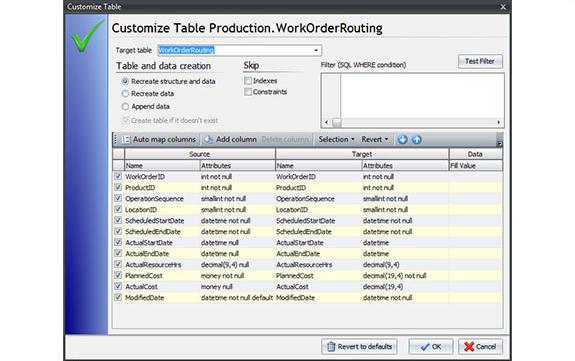 Development Software, Full Convert Enterprise Screenshot