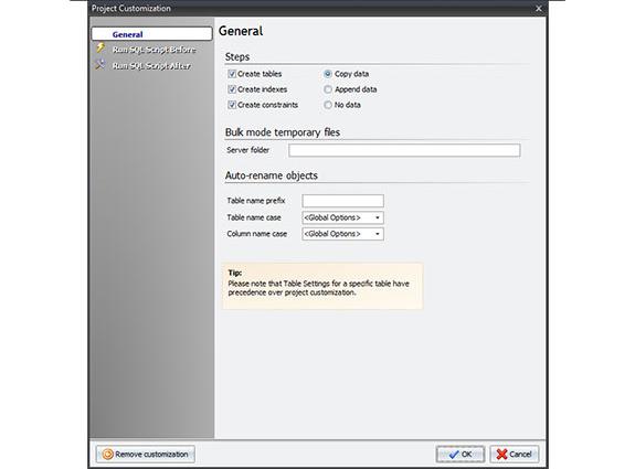 Development Software, Database Conversion Software Screenshot