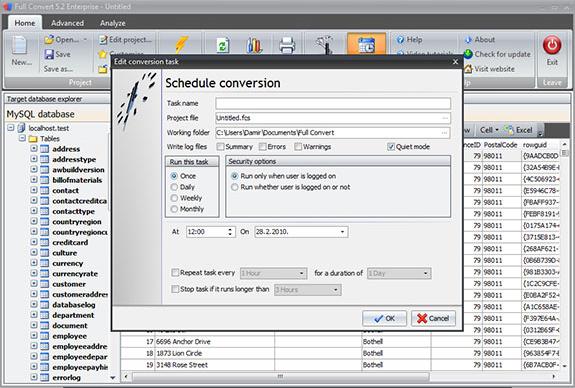 Database Conversion Software, Full Convert Enterprise Screenshot