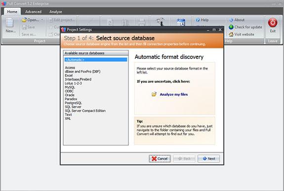 Full Convert Enterprise Screenshot
