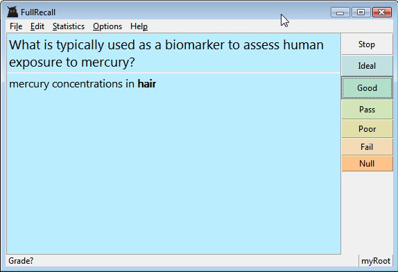 Hobby, Educational & Fun Software, FullRecall Screenshot
