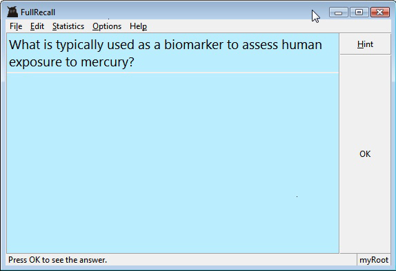 Educational Software, FullRecall Screenshot