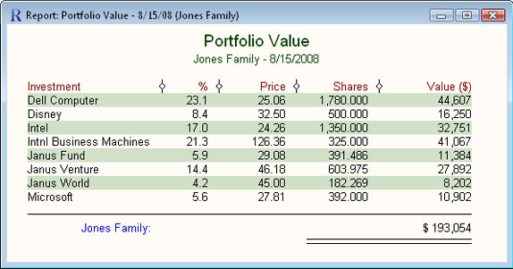 Business & Finance Software, Fund Manager Personal Screenshot