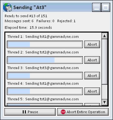 Gammadyne Mailer, Bulk Mailer Software Screenshot