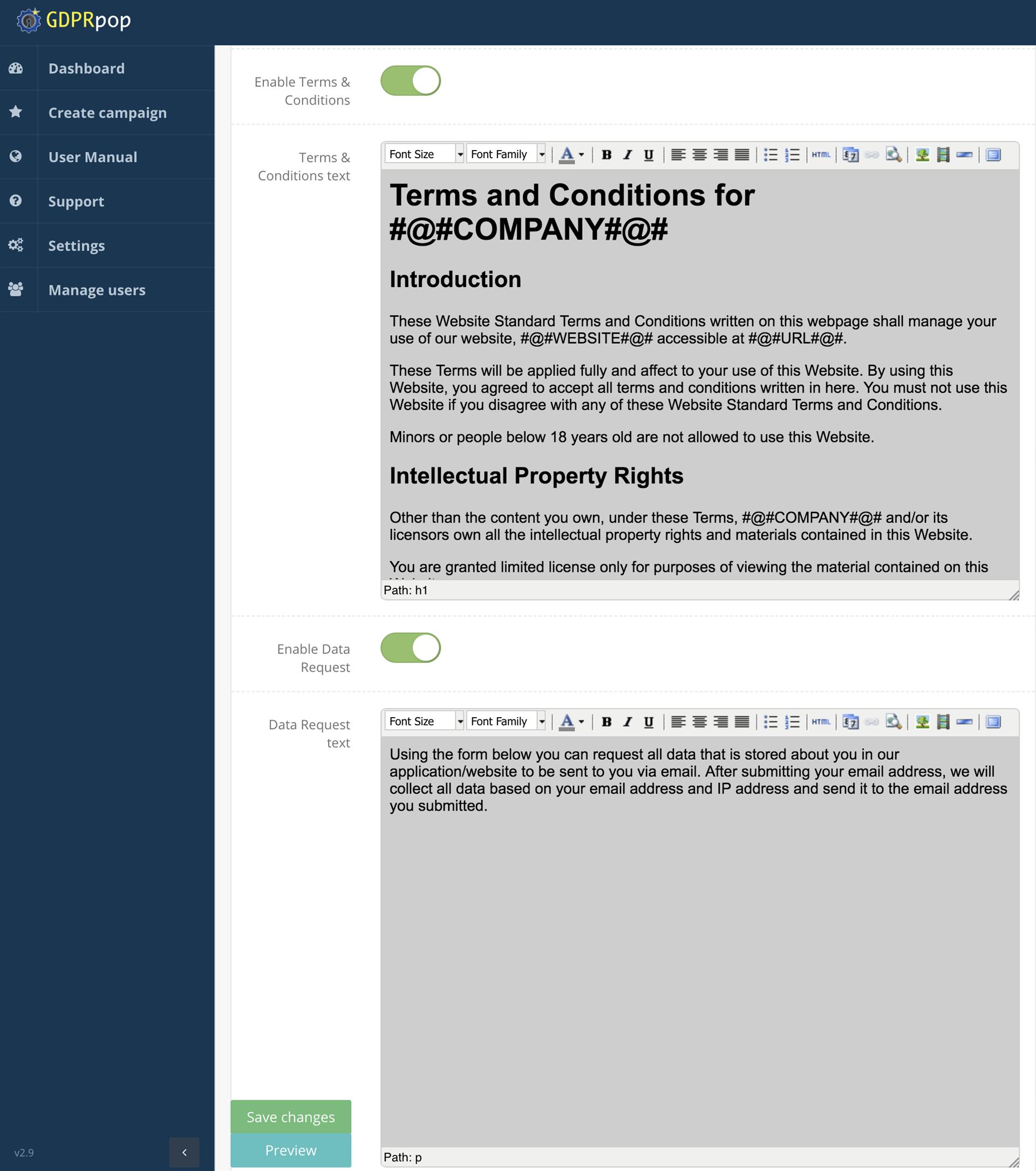 GDPRpop Unlimited, Development Software Screenshot