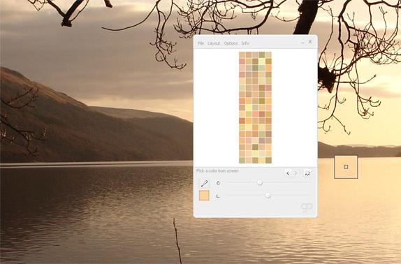 GenoPal 3.0, Color Selection Software Screenshot