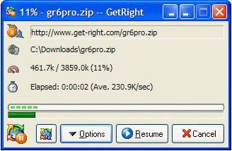 GetRight Screenshot