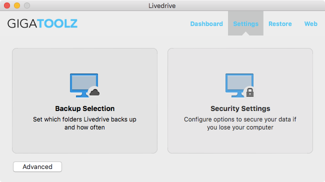 Backup Files Software, Gigatoolz Cloud Backup Screenshot