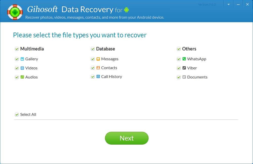 Gihosoft Android Data Recovery Pro Screenshot