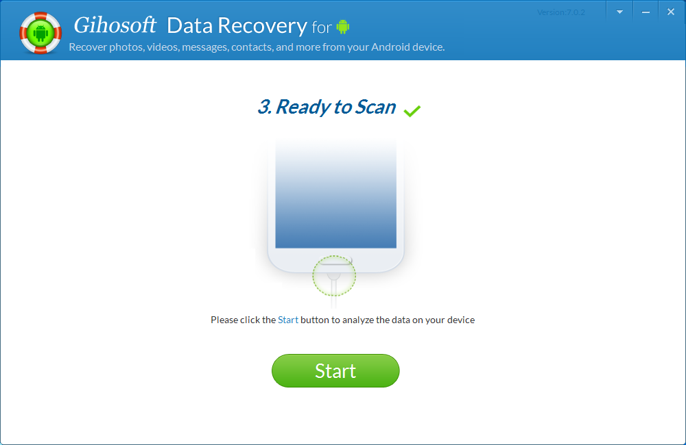 Gihosoft Android Data Recovery Pro, Backup and Restore Software Screenshot