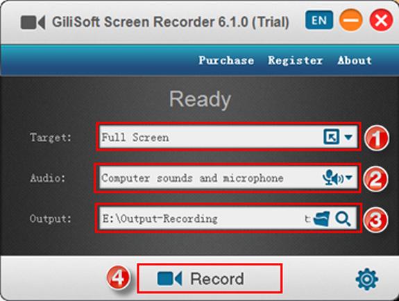 Gilisoft Screen Recorder, MP3 Recording Software Screenshot