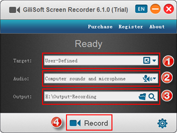 MP3 Recording Software, Gilisoft Screen Recorder Screenshot