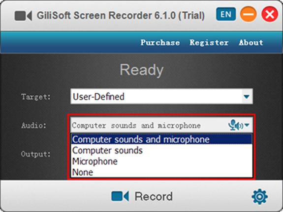 Audio Software, Gilisoft Screen Recorder Screenshot