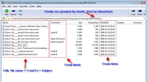 Backup Email Software Screenshot
