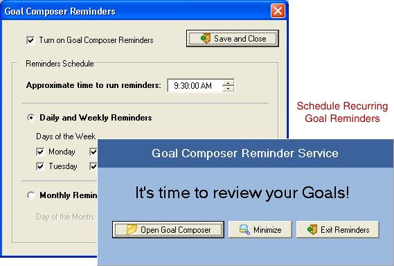 Goal Composer, Notes Software Screenshot