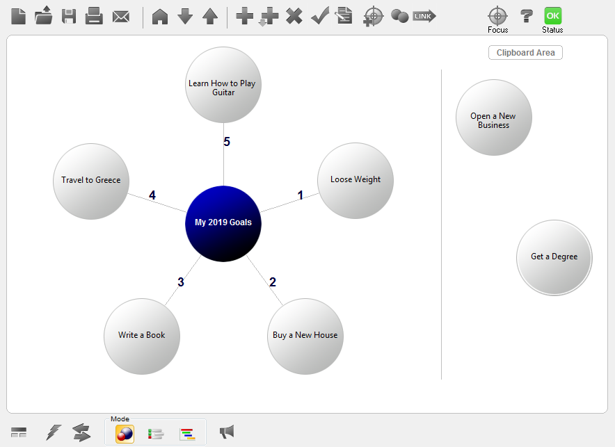 Mind Mapping Software, GoalEnforcer Hyperfocus Screenshot