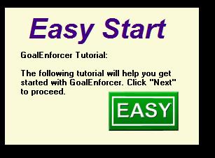 GoalEnforcer Starter Edition, Productivity Software Screenshot