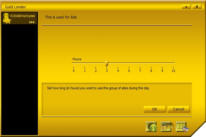 Gold Limiter, Security Software Screenshot