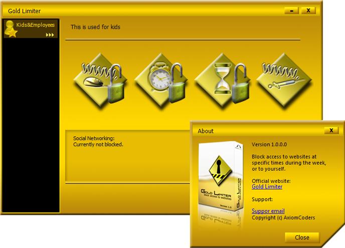 Access Restriction Software Screenshot