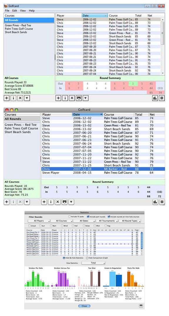 Golfcard Screenshot