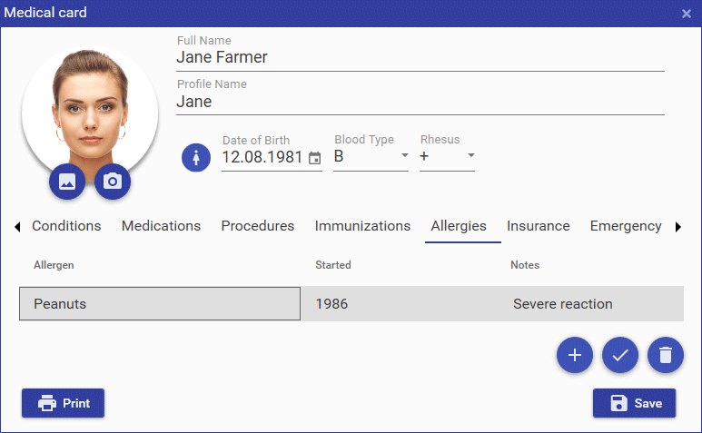 Health Software Screenshot