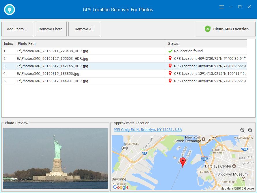 GPS Location Remover For Photos Screenshot