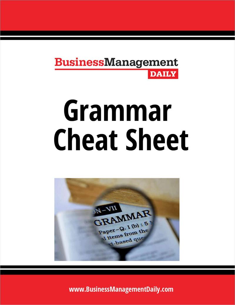 Grammar Cheat Sheet Screenshot