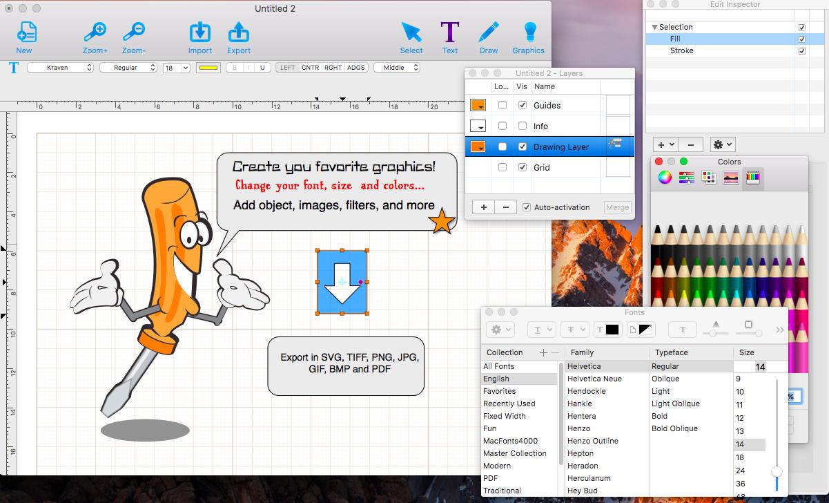 Graphic Design Studio, Design, Photo & Graphics Software Screenshot