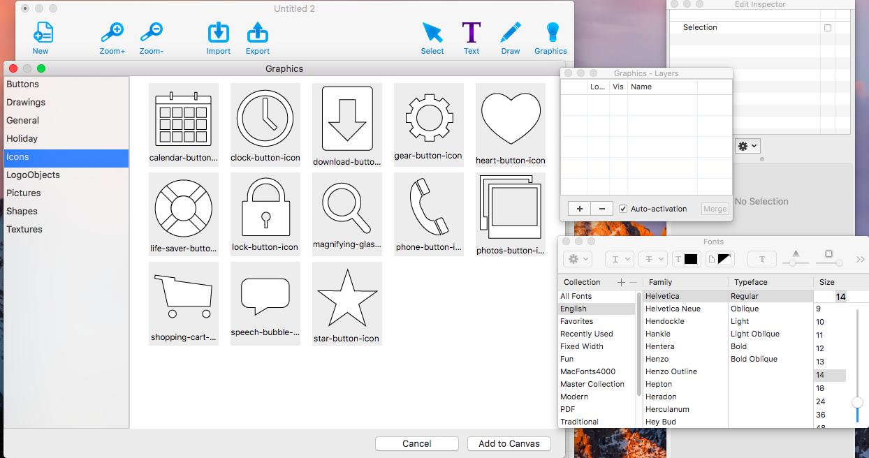 Graphic Design Software, Graphic Design Studio Screenshot