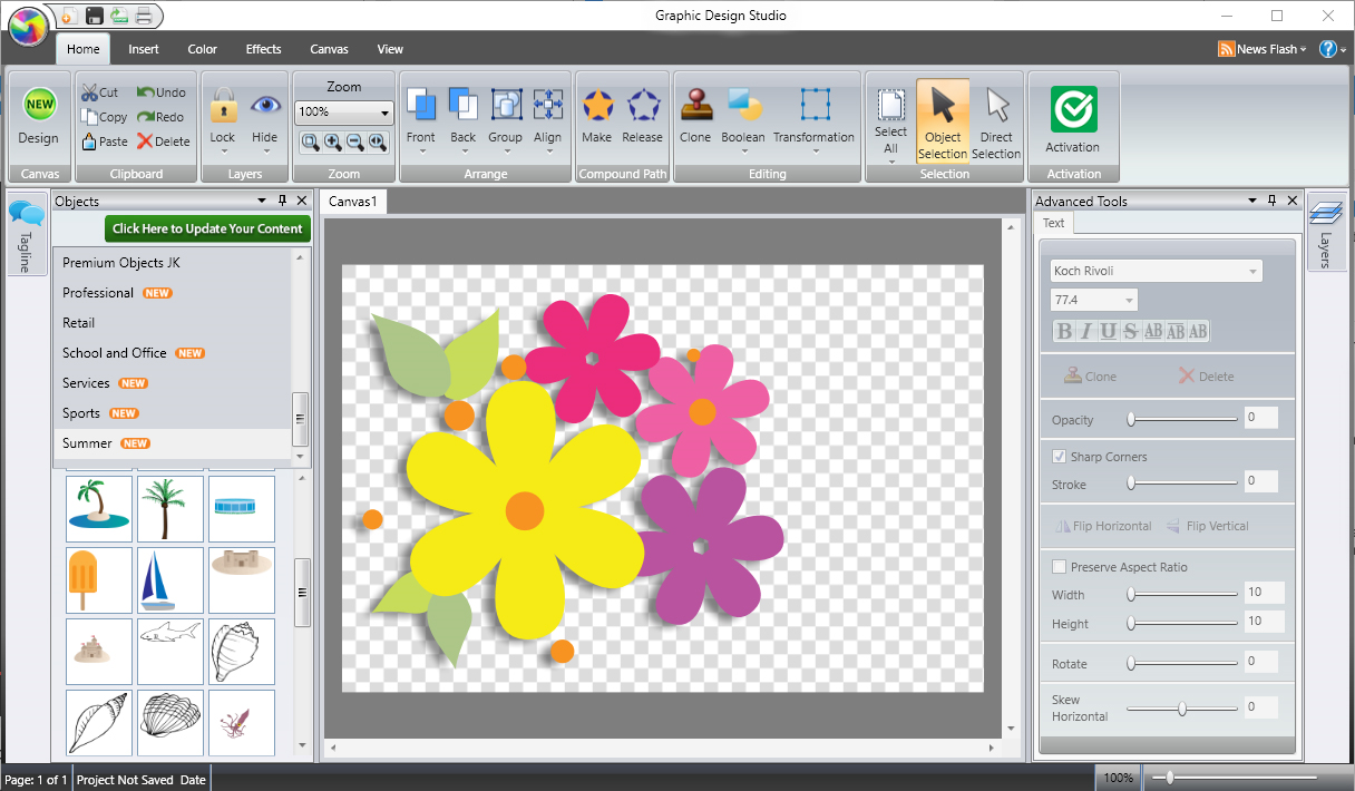 Graphic Design Studio for PC Screenshot