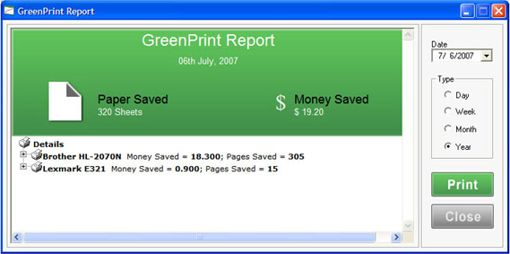 GreenPrint Screenshot