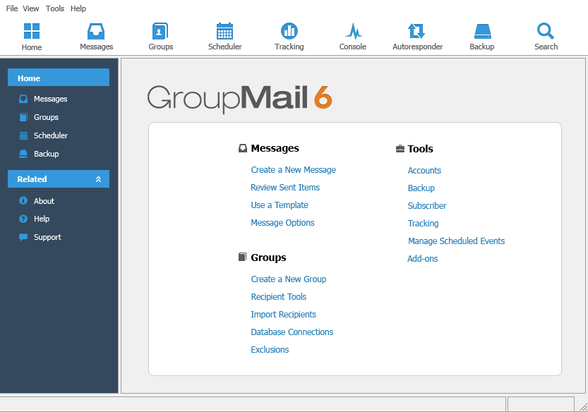 GroupMail Personal Edition 6 Screenshot