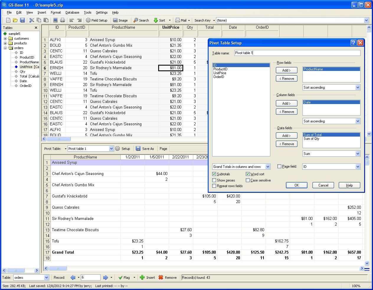 Development Software, GS-Base Screenshot