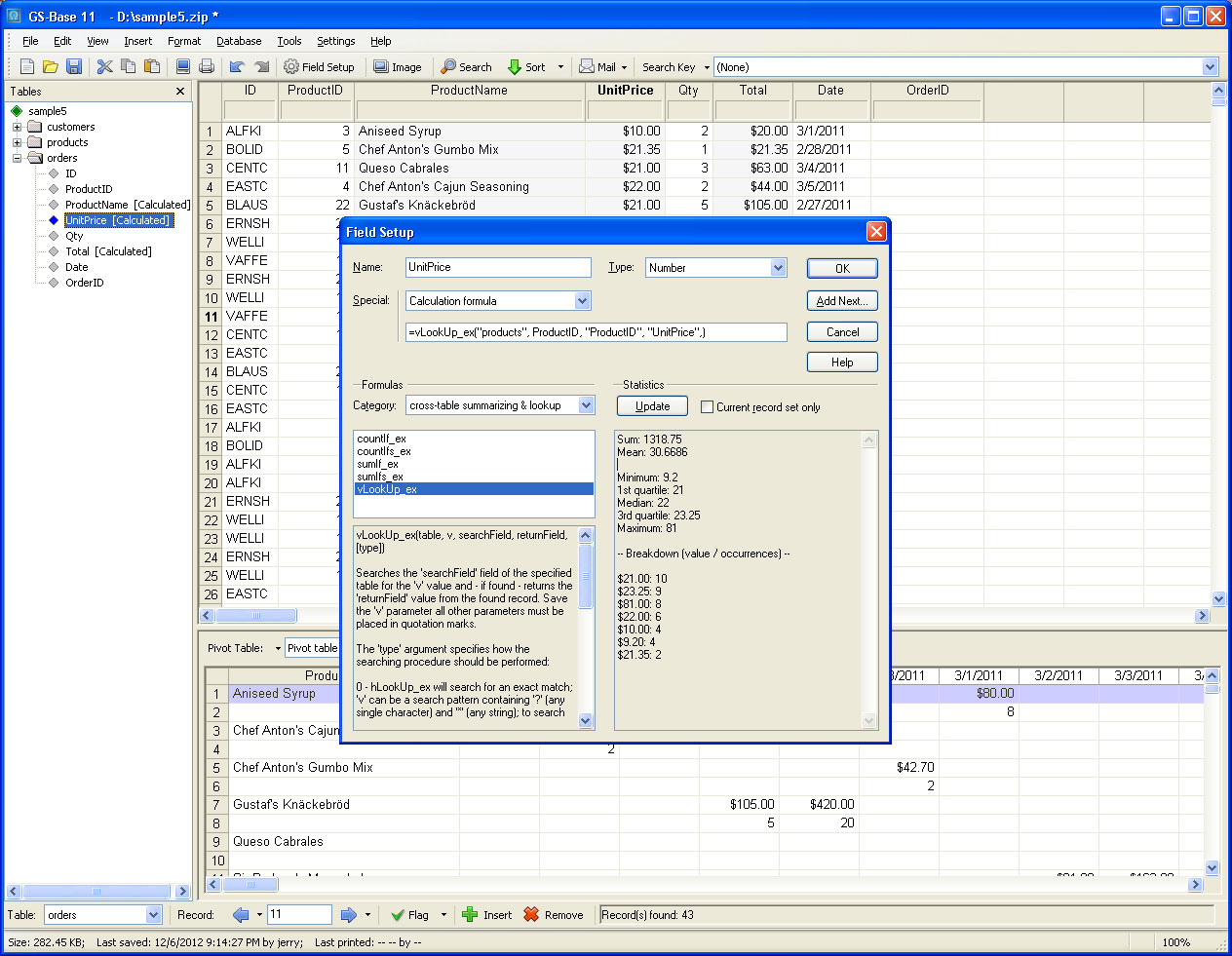 Database Software, GS-Base Screenshot