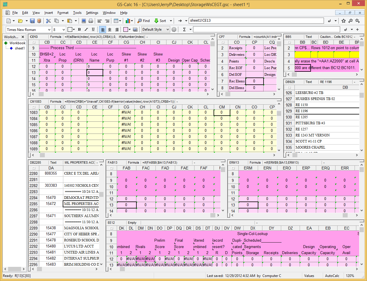 GS-Calc, Spreadsheet Editors Software Screenshot