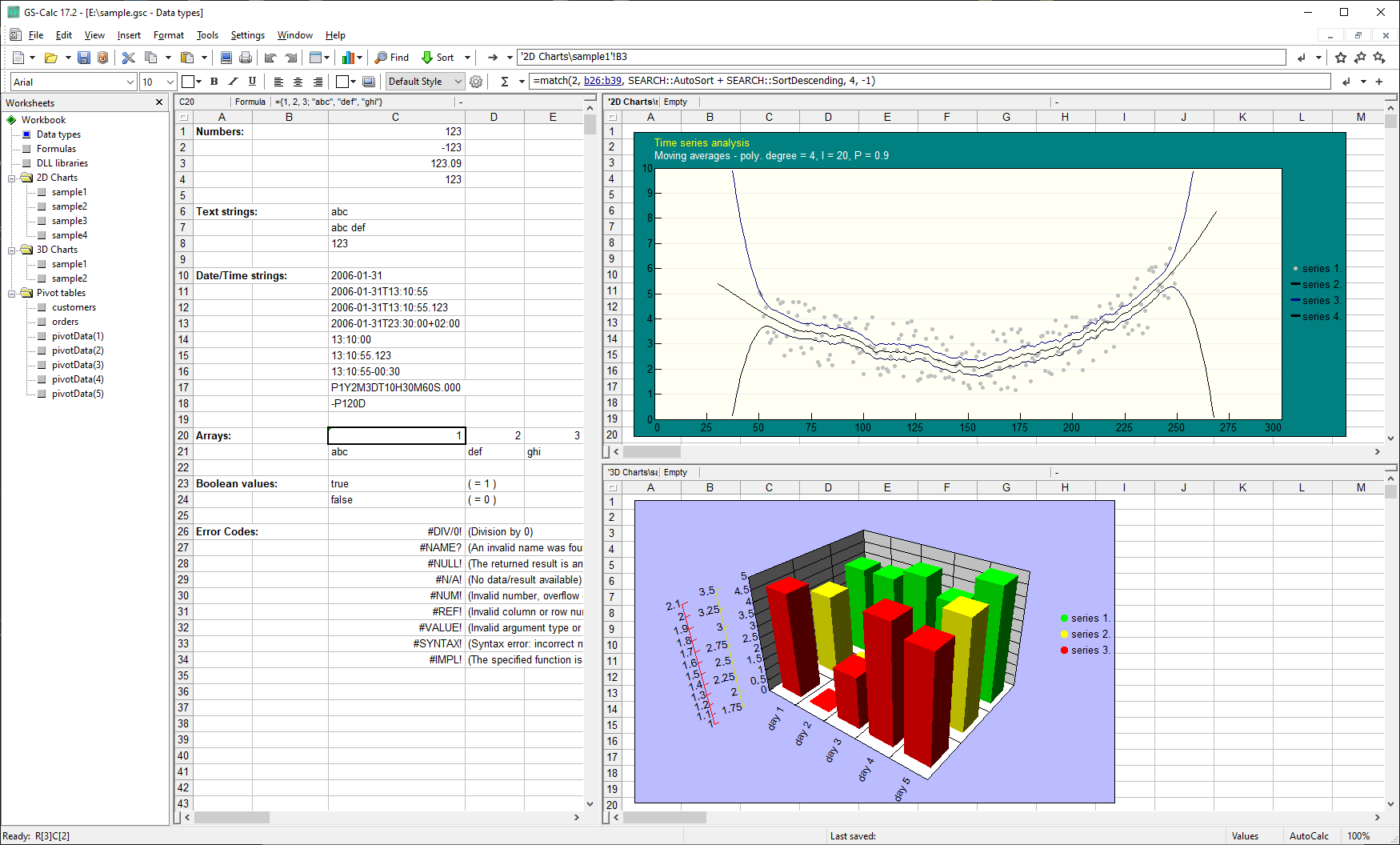 GS-Calc Screenshot