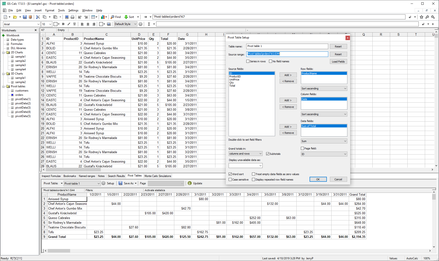 Spreadsheet Editors Software Screenshot