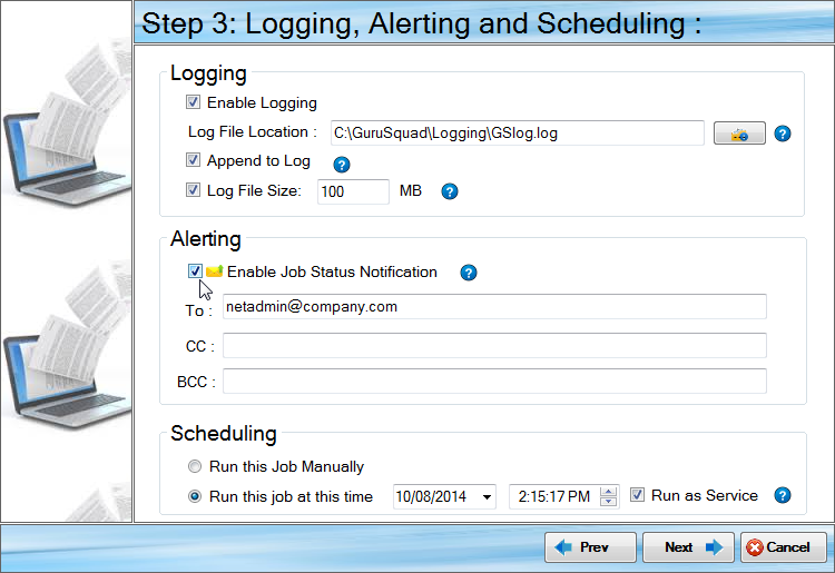GS RichCopy 360 Standard, Files and Folders Software Screenshot