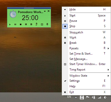 GTD Timer 2015 Screenshot
