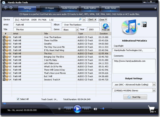 Handy Audio Tools Screenshot