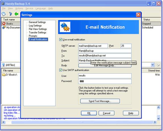 Backup Files Software, Handy Backup Home Standard Screenshot