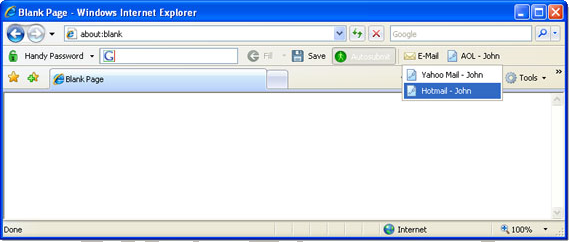 Password Manager Software, Handy Password Screenshot