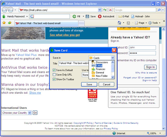Security Software, Password Manager Software Screenshot