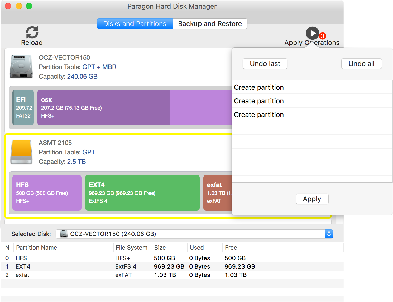 Hard Disk Manager for Mac Screenshot