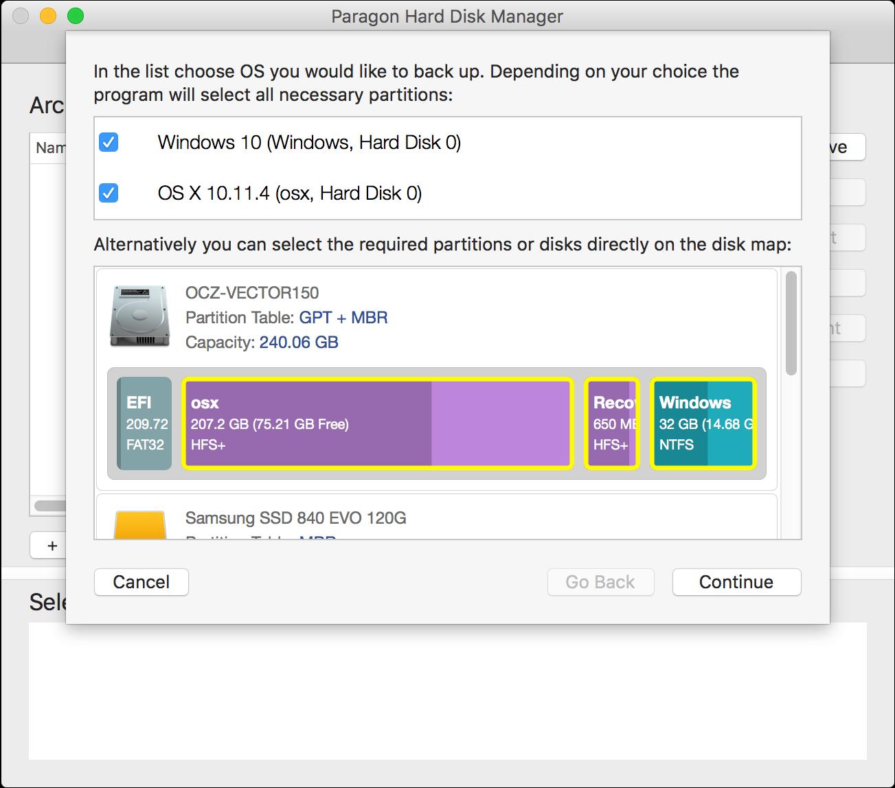 Hard Drive Software Screenshot