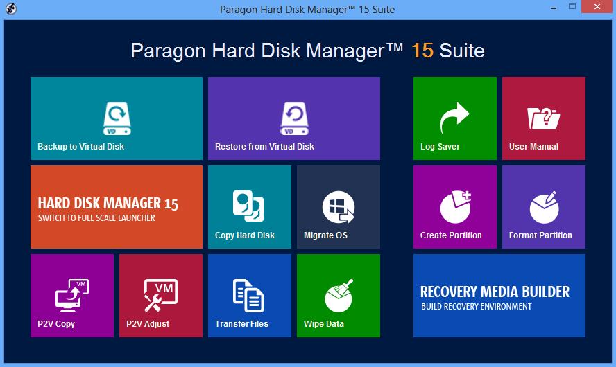 Hard Disk Manager 15 Suite Screenshot