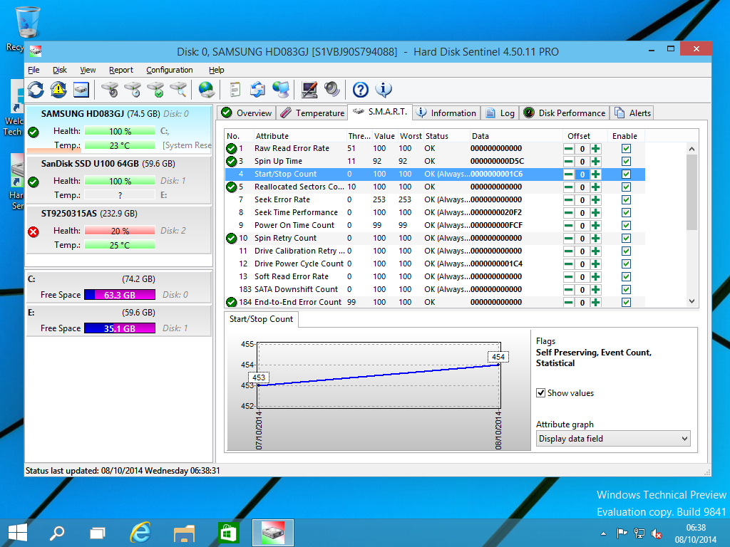 Hard Disk Sentinel Professional Family, Software Utilities Screenshot
