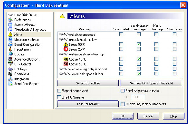 Hard Drive Software, Hard Disk Sentinel Standard Edition Screenshot